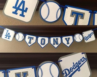Los Angeles Dodgers Baseball party Banner, Dodgers Banner, Baseball Banner, dodgers baseball banner, dodgers birthday banner