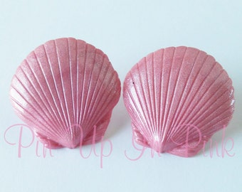 Pink Pearl Seashell Earrings