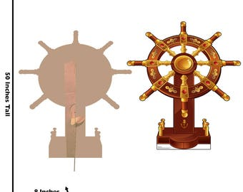 Ships Wheel Lifesize Cardboard Cutout