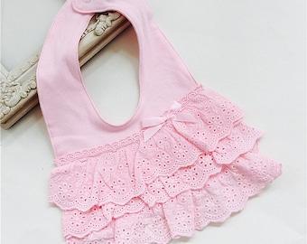 Baby Bib | Little Princess Lace Bibs | Pink Lace | Fancy baby bib | Baby Shower Gift | Church bib | Adjustable bib | Birthday gift | Infant