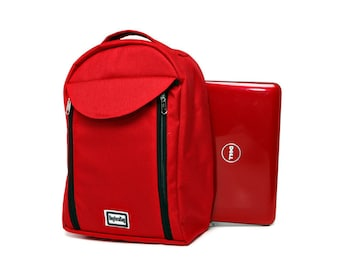 Sling Messenger Bag, One Strap Backpack,Padded, Notebook,Ipad bag- Kimmie, Red Cordora