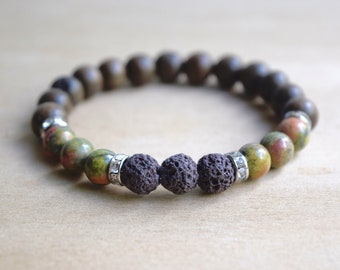 Unakite Bracelet / yoga gift for mom, balance bracelet, energy bracelets, nature inspired, gift for yoga mom, best yoga gifts, group 11