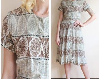 1950s Dress // Silk Berkshire Dress // vintage 50s dress