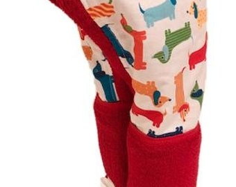 Dachshunds Red Hooded Towel