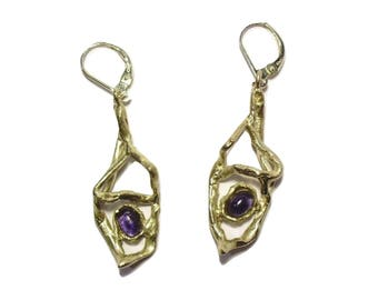 Sterling Silver Blue Iolite earrings