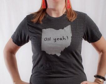 ohio tshirt, ohio graphic t, state pride tshirt, unisex, neutral, silkscreened tshirt, witty tshirt, men's gift, free ship