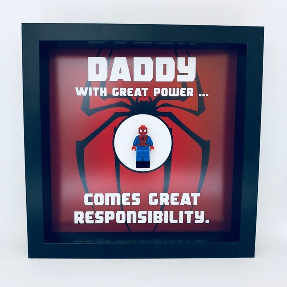 Spider-Man Personalised Minifigure Frame