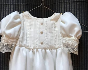 Baptism Gown,  Christening Gown, made to order from your wedding gown
