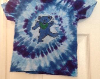 Kids Dancing Bear Tie Dyed Shirt