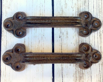 Barn Door Handle, Rustic Handle, Gate Handle, Door Pull, Trunk Handle, Rustic Pull, Cast Iron Handle, Cast Iron Pull, Drawer Pulls, Antique