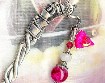 Bookmark ❀ TART raspberry crystal glass MP175 ❀