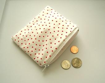 Weiße und rote Polka Dot kleine RV-Tasche