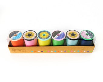 Cotton + Steel Sulky Thread Set - Beauty Shop Collection - Set of 6 colors - 50 weight quilting thread - 660 yards spool