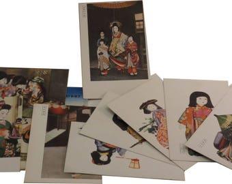 Wartime Japanese GEISHA postcard lot of 10 (No English Subtitles - all in Japanese)