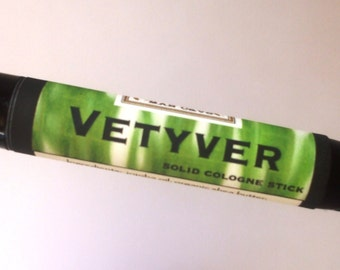Solid COLOGNE Stick - VETYVER - clean, brisk scent - .99 shipping