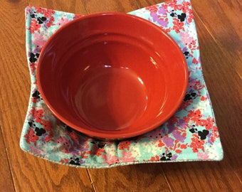 Soup Cozy, Bowl Cozy, Soup Holder, Bowl Holder, Microwave Bowl Cozy, Gift for Women, Gift for Friends, Gift for Coworker, Potholder