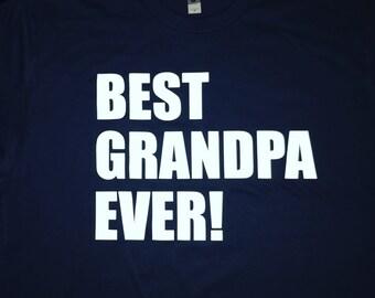 Best granpa ever mens shirt grandpa gift Father's Day gift
