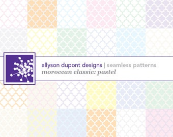 Moroccan Classic Digital Pattern Pack (Illustrator CS3) - Pastels