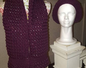 Hat and scarve set in Saltana