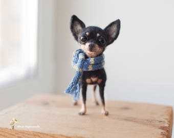 the toy terrier, 14 cm, made to order 10 days.
