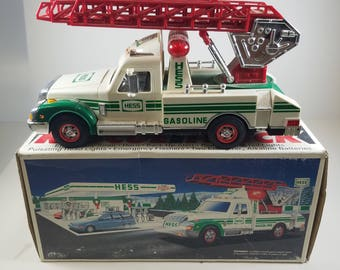 1994 Hess Rescue Truck Red Extendable Ladder Toy Vehicle Emergency Christmas Holiday