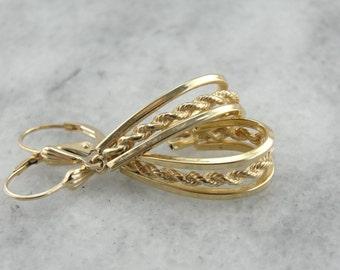 Nautical Rope Twist Drop Earrings  66JNT7-R