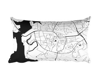 Clemson Pillow, Clemson Decor, Clemson Cushion, Clemson Throw Pillow, Clemson Gift, Clemson Throw, Clemson SC Map, Clemson Art, Clemson