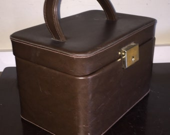 Midcentury Airline Case Train Case Vintage Makeup Case CarryOn for Airplane Leather or Pleather
