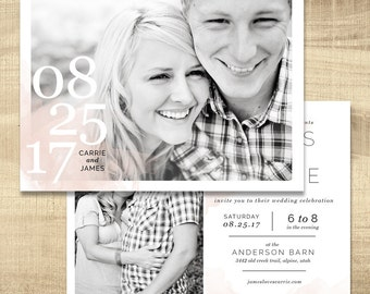 wedding invitation with photo, lds wedding invitation, custom wedding invitation, temple wedding invitation and insert, PRINTABLE