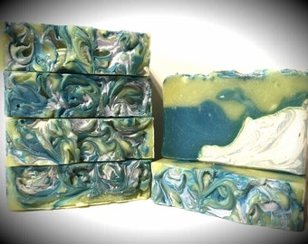 Snow Kissed Stream Scented, handmade soap, artisan soap, cold processed soap