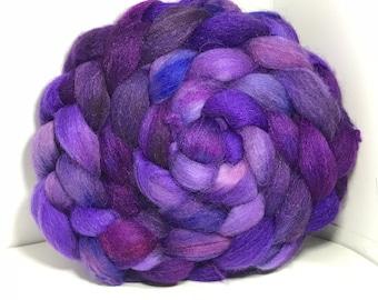 Merino/Baby Alpaca/Tussah 50/30/20 Spinning Fiber - 5oz - Lavender Fields 3