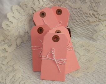 SOLDES - couleur des étiquettes d'expédition - moyenne - rose - paquet de 10