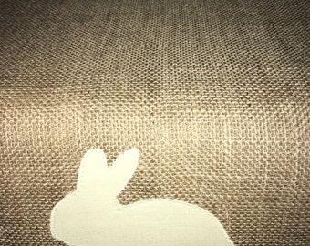 Easter Bunny Hessian table runner