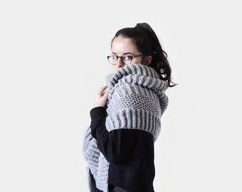 KNITTING PATTERN • Wrap Knitting Pattern • Bulky Scarf Knitting Pattern • Super Scarf Knitting Pattern