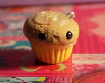 Kawaii Lemonade Cupcake Polymer Clay Charm