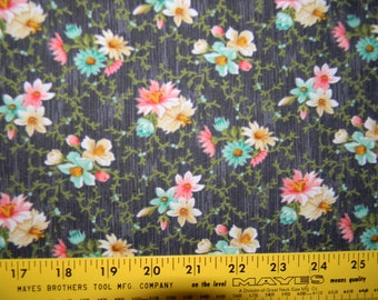 Village Garden Collection Cotton Fabric by Wilmington Prints