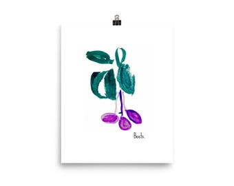 Beet Print