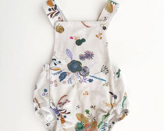 Baby Romper / Toddler Romper / Baby Playsuit / Toddler Playsuit - // Florals //  MADE TO ORDER