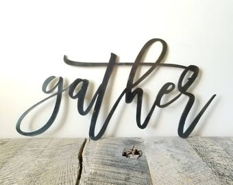 FREE SHIPPING!!!  Gather decorative Metal Sign CNC Plasma Wall Art