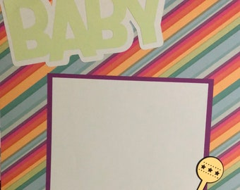 Baby, Baby scrapbook page, 12x12 scrapbook page, premade scrapbook page, 12x12 premade scrapbook page, 12x12 album page