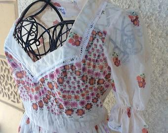 Lovely Vintage 1970s Victorian Revival Dress by Ricky Richards Australia Size 12