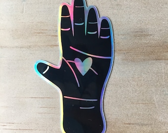 Palm Heart Sticker