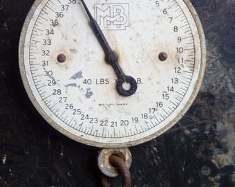 Vintage collectable milk weight recording scales