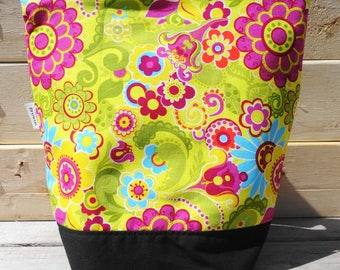 Insulated Lunch Bag - Yellow Floral
