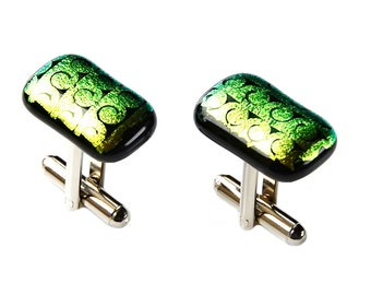 Dichroic Glass Cufflinks