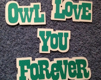 """Scrapbooking title """"Owl love you forever"""""""