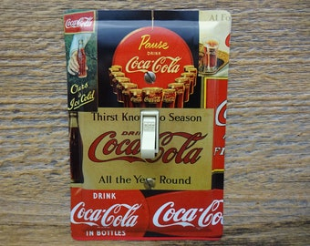 Coca Coke Cola Kitchen Wall Decor Unique Switchplates Single Light Switch Plates Cover Plate Covers For Diner Theme Tin SP-0092