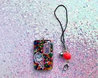 Phone & Ice Cream Charm