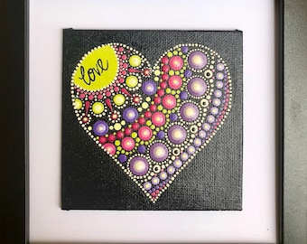 Small framed heart 2