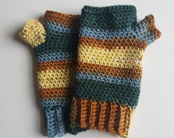 Willow Gloves - Pure Cotton Fingerless Gloves - Ready to Ship